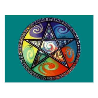 Cartão Postal Pentagram de Wiccan