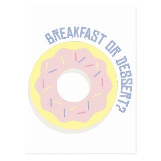 Cartão Postal Pequeno almoço ou sobremesa