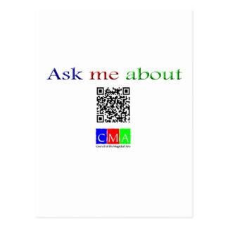 Cartão Postal pergunte-me sobre o código de Q
