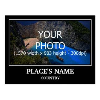 Cartão Postal Personalize a foto, o nome de lugar & o país do