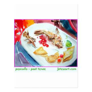 Cartão Postal Pescado - tempo passado