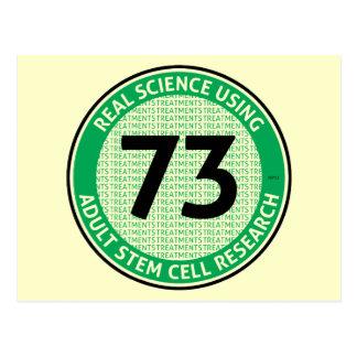Cartão Postal Pesquisa adulta da célula estaminal