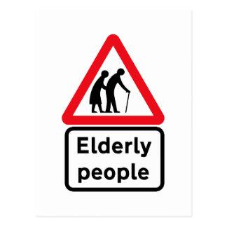 Cartão Postal Pessoas adultas (2), sinal de tráfego, Reino Unido