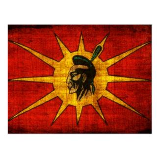 Cartão Postal Pessoas da bandeira do Mohawk