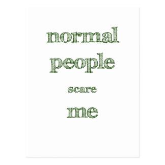 Cartão Postal Pessoas normais do susto mim