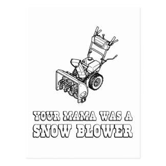 Cartão Postal Piada do robô de Yo Momma - ventilador de neve de
