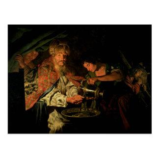 Cartão Postal Pilate que lava suas mãos (óleo em canvas)