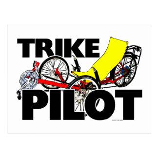 Cartão Postal Piloto de Trike