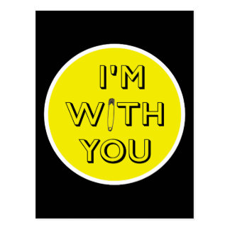Cartão Postal Pin de segurança - Eu sou com você