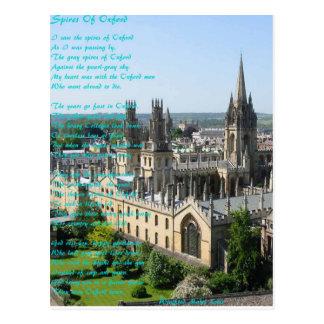 Cartão Postal Pináculos do poema de Oxford perto: Winifried