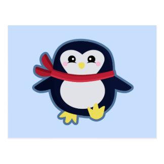 Cartão Postal Pinguim de Kawaii