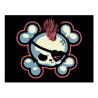 Cartão Postal Pintinho do pirata de Punkin