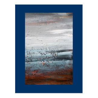 """Cartão Postal Pintura de paisagem abstrata da """"inferência"""""""