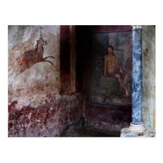Cartão Postal Pintura mural em Pompeii