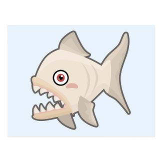 Cartão Postal Piranha de Kawaii