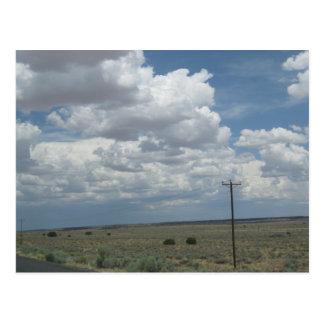 Cartão Postal Planícies secas da arizona do nordeste