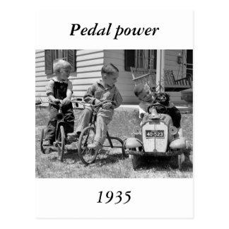 Cartão Postal Poder do pedal, os anos 30