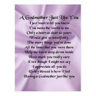 Cartão Postal Poema   da madrinha do Lilac