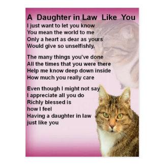 Cartão Postal Poema da nora dos gatos