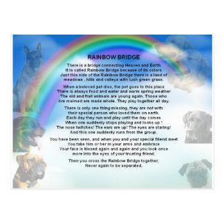 Cartão Postal Poema da ponte do arco-íris