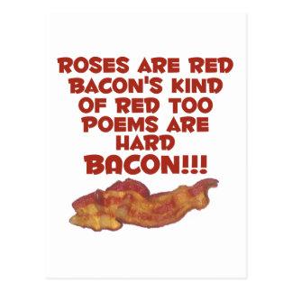 Cartão Postal Poema do bacon