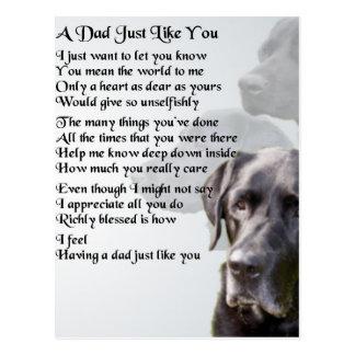 Cartão Postal Poema preto do pai de Labrador
