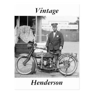 Cartão Postal Polícia Motocicleta de Henderson, 1922