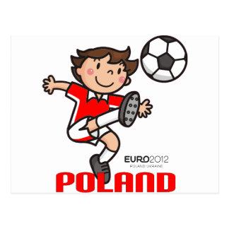 Cartão Postal Polônia - euro- 2012