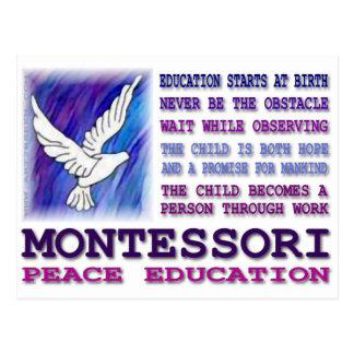 Cartão Postal Pomba de Montessori