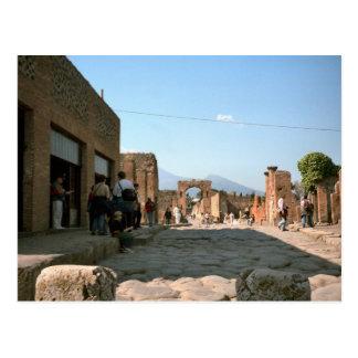 Cartão Postal Pompeii, alpondras e entradas
