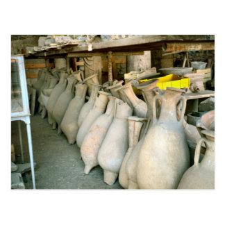Cartão Postal Pompeii, Amphorae do local de Pompeii