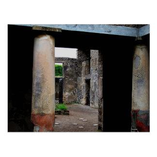 Cartão Postal Pompeii - corte ou peristyle interior da casa