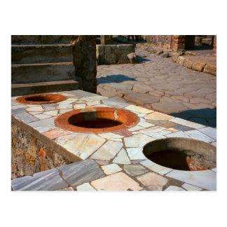 Cartão Postal Pompeii, medidas da grão