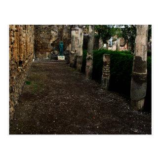 Cartão Postal Pompeii - pátio de uma casa rica