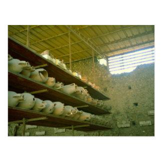 Cartão Postal Pompeii, prateleiras dos amphorae