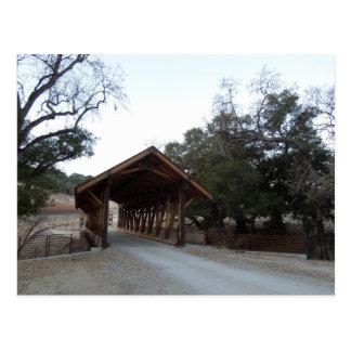 Cartão Postal Ponte coberta no rancho da cabeçada, Paso Robles