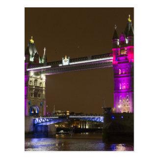 Cartão Postal Ponte da torre no rosa da princesa