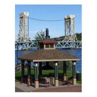 Cartão Postal Ponte de elevador do lago Portage