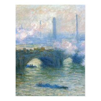 Cartão Postal Ponte de Waterloo, Londres por Claude Monet