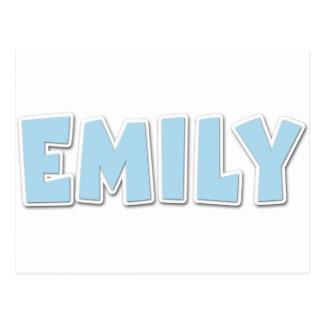 Cartão Postal Popout do azul de Emily