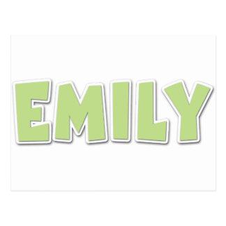 Cartão Postal Popout verde de Emily