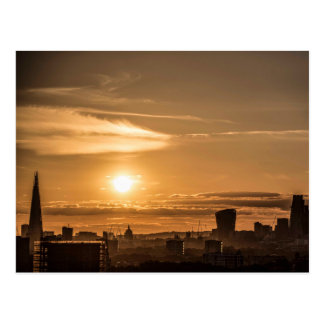 Cartão Postal Por do sol de Londres