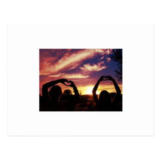 Cartão Postal Por do sol de Nevada