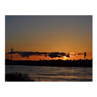 Cartão Postal Por do sol do canal de Cape Cod