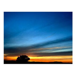 Cartão Postal Por do sol do deserto perto da rota histórica 66