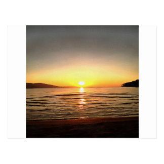 Cartão Postal Por do sol do outono