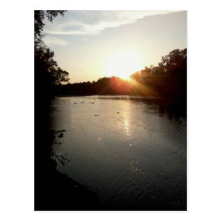 Cartão Postal Por do sol no rio