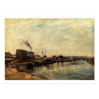 Cartão Postal Porto de Grenelle por Paul Gauguin