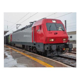 Cartão Postal Portugal: Interurbano com locomotiva elétrica 5618