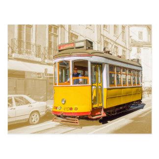 Cartão Postal Portugal - tramcar clássico de Lisboa